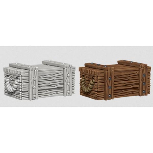 Pathfinder - Deep Cuts Unpainted Miniatures: Crates