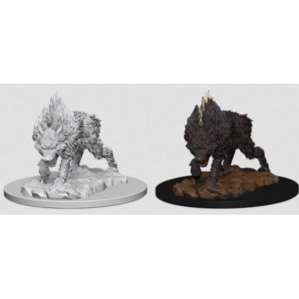 Pathfinder - Deep Cuts Unpainted Miniatures: Dire Wolf