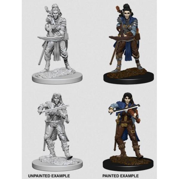 Pathfinder - Deep Cuts Unpainted Miniatures: Elf Female Bard
