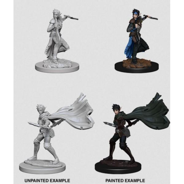Pathfinder - Deep Cuts Unpainted Miniatures: Elf Female Rogue