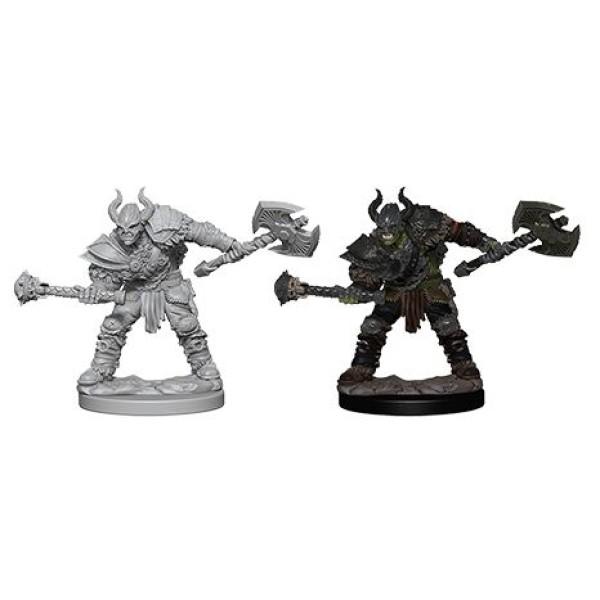 Pathfinder - Deep Cuts Unpainted Miniatures: Half-Orc Male Barbarian