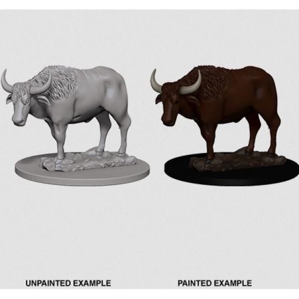 Pathfinder - Deep Cuts Unpainted Miniatures: Oxen