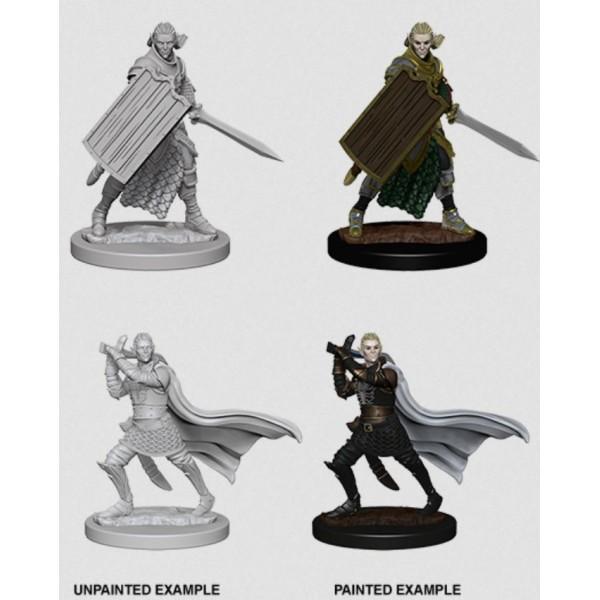 Pathfinder - Deep Cuts Unpainted Miniatures: Elf Male Paladin