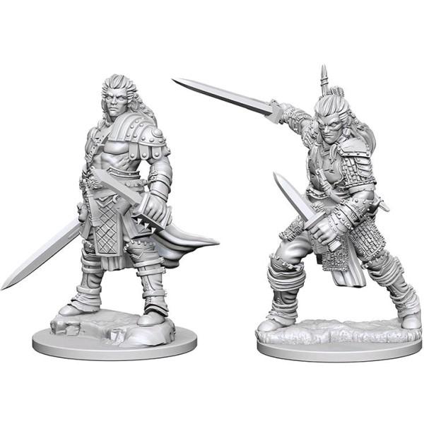 Pathfinder - Deep Cuts Unpainted Miniatures: Human Male Fighter