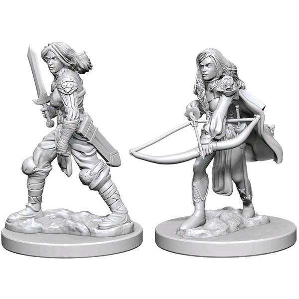 Pathfinder - Deep Cuts Unpainted Miniatures: Human Female Fighter