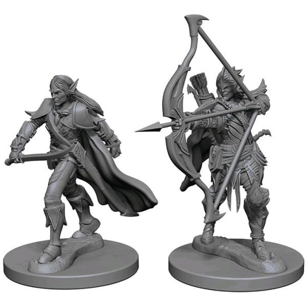 Pathfinder - Deep Cuts Unpainted Miniatures: Elf Male Fighter I