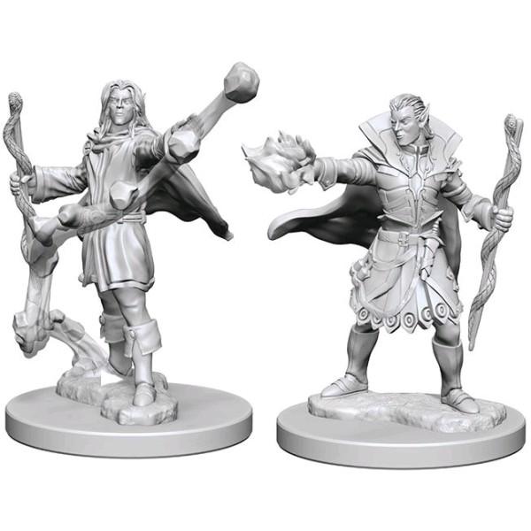 Pathfinder - Deep Cuts Unpainted Miniatures: Elf Male Sorcerer