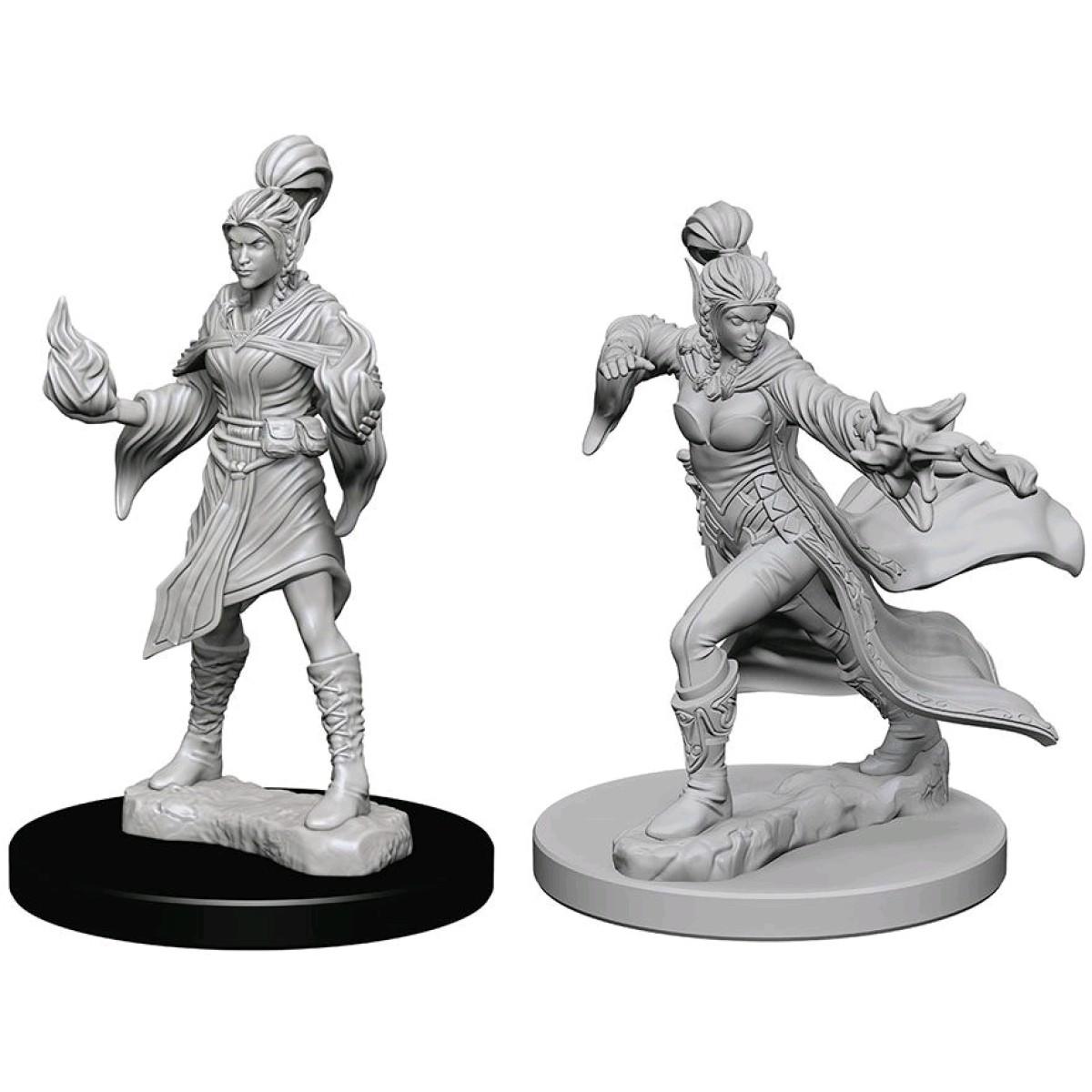 Elf Female Sorcerer WZK 72606 Pathfinder Deep Cuts Unpainted Minis