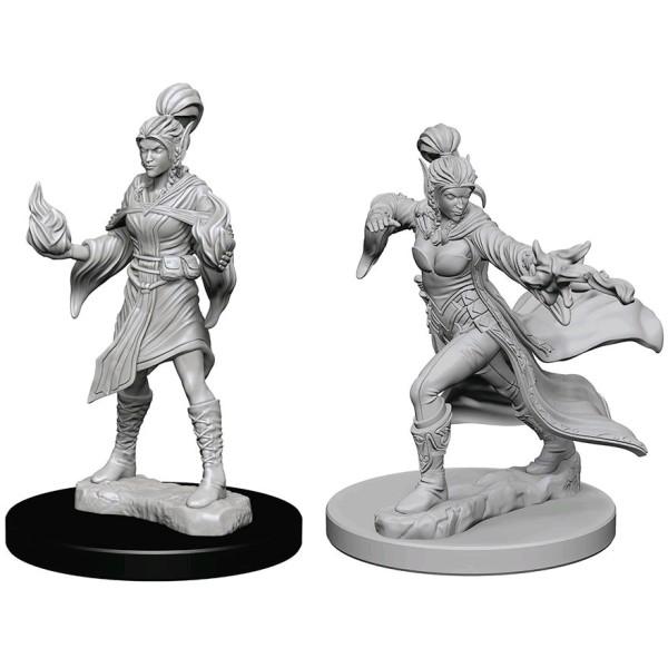 Pathfinder - Deep Cuts Unpainted Miniatures: Elf Female Sorcerer