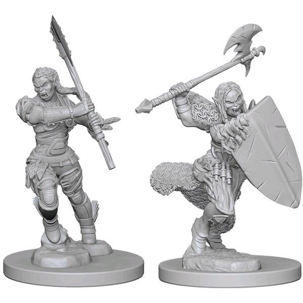 Pathfinder - Deep Cuts Unpainted Miniatures: Half-Orc Female Barbarian