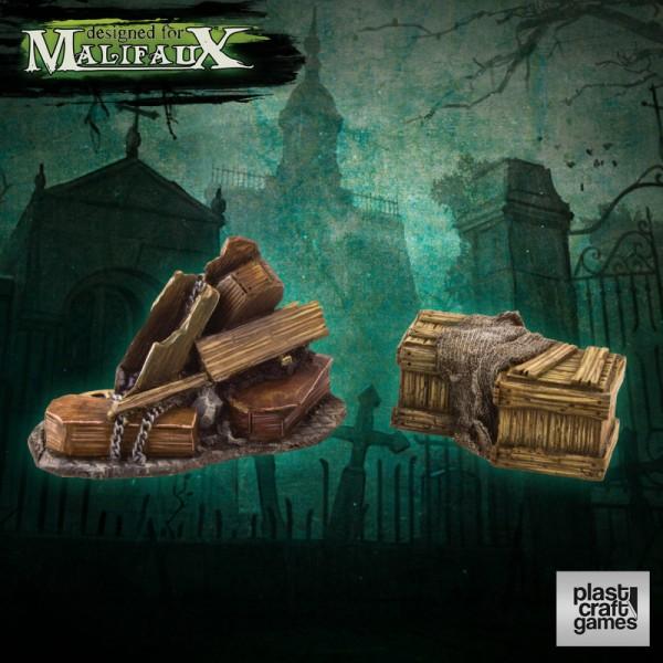 Plast Craft Malifaux Scenery - Undertaker Props