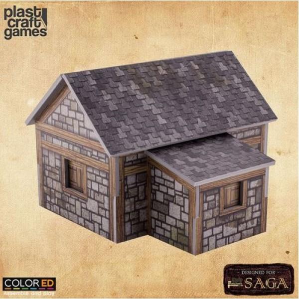 Plast Craft Games - Medieval - Medieval Dwelling (Color ED)