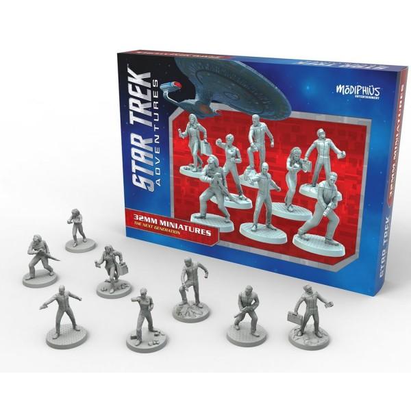 Star Trek Adventures - RPG 32mm Miniatures - Next Generation Bridge Crew Boxed Set