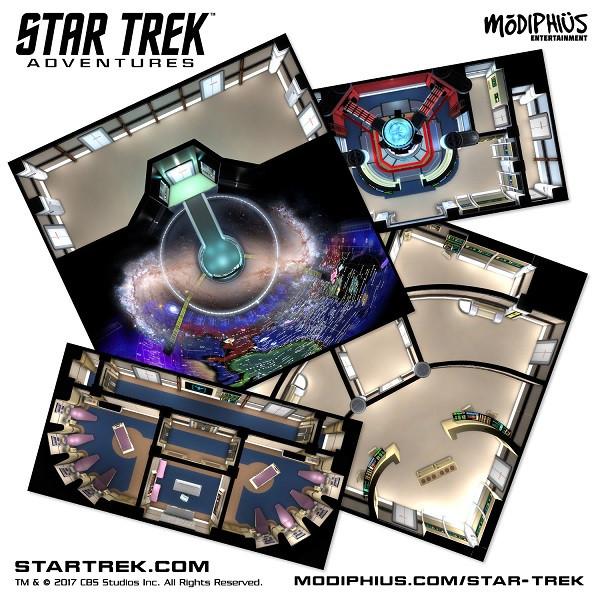 Star Trek Adventures - RPG - Next Generation Starfleet Deck Tiles