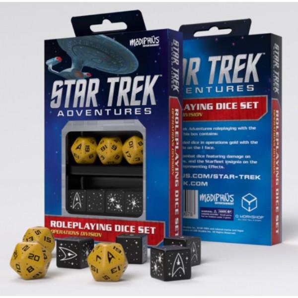 Star Trek Adventures - RPG - Gold Operations Division Dice Set