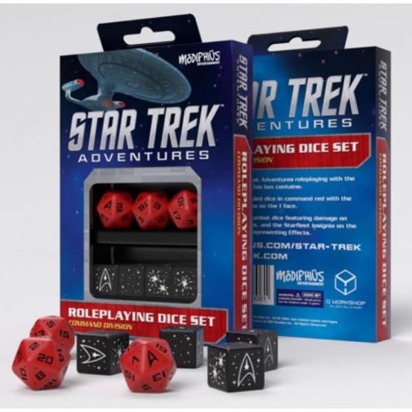 Star Trek Adventures - RPG - Red Command Division Dice Set