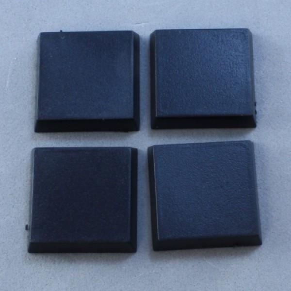 Reaper Bases - 20mm Square Plastic Flat Top Base (25)