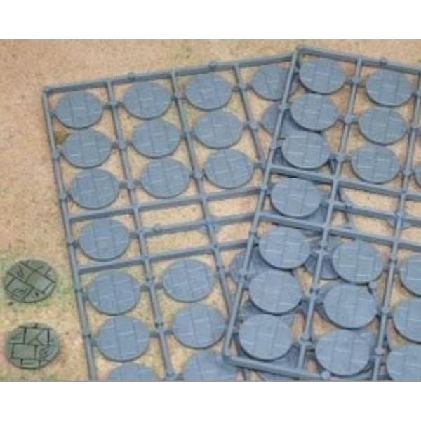 Renedra - Stone Paving Round Bases 25mm Diameter - 52 bases