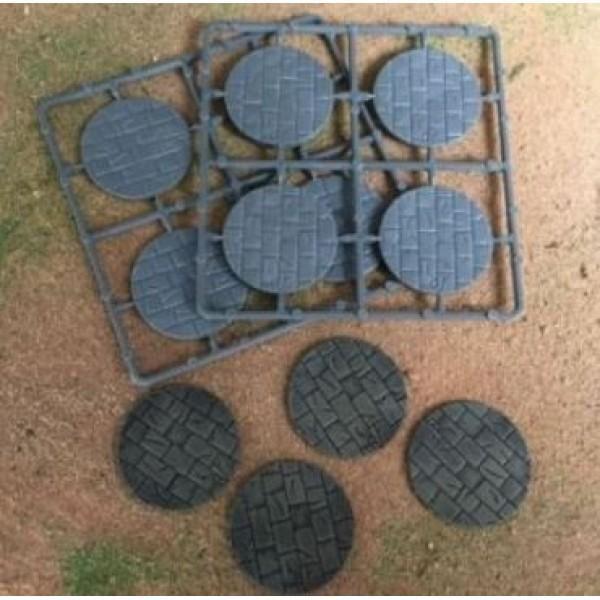Renedra - Stone Paving Round Bases 40mm Diameter - 8 bases
