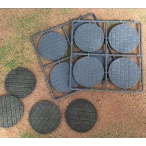 Renedra - Stone Paving Round Bases 60mm Diameter - 8 Bases