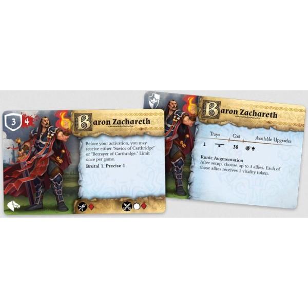 Runewars Miniatures - Baron Zachareth Hero Expansion