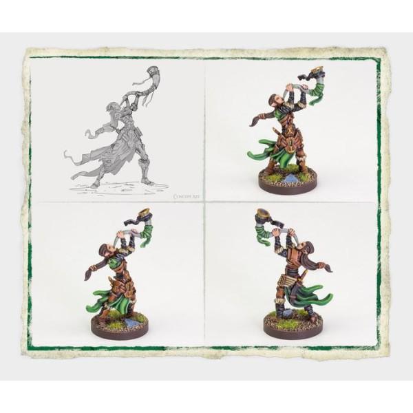 Runewars Miniatures - Latari Elves Infantry Command Unit Expansion