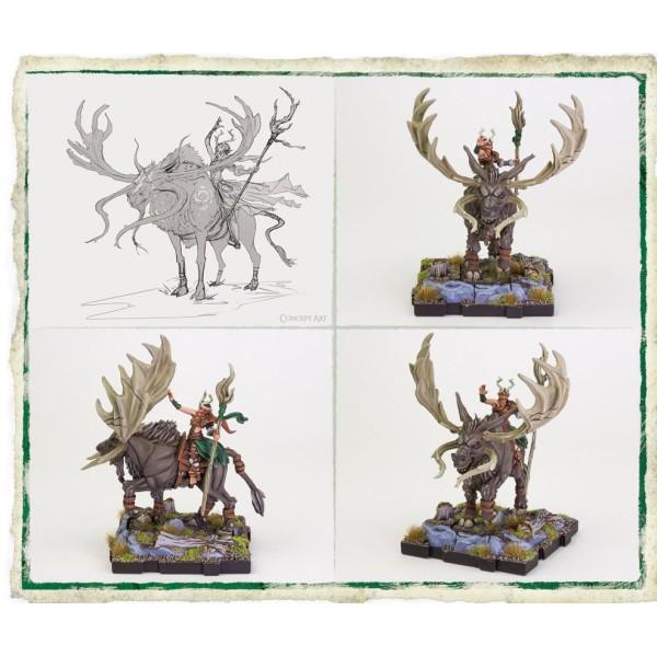 Runewars Miniatures - Latari Elves Maegan Cyndewin Hero Expansion