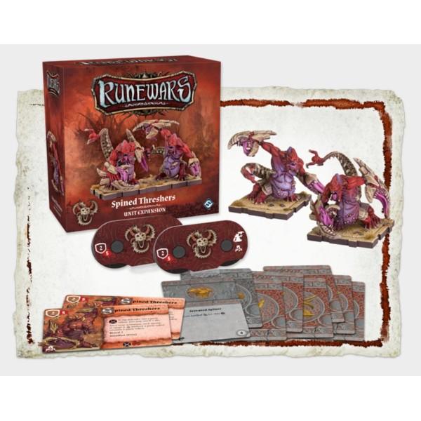 Runewars Miniatures - Uthuk Y'llan Spined Threshers Unit Expansion