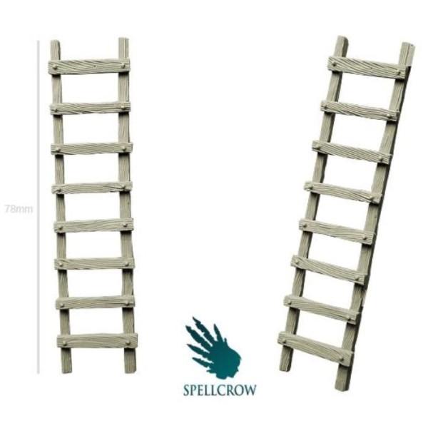 Spellcrow - 28mm Fantasy: Wooden Ladders