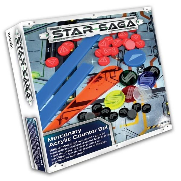 Star Saga - Merc Player Acrylic Counter Set
