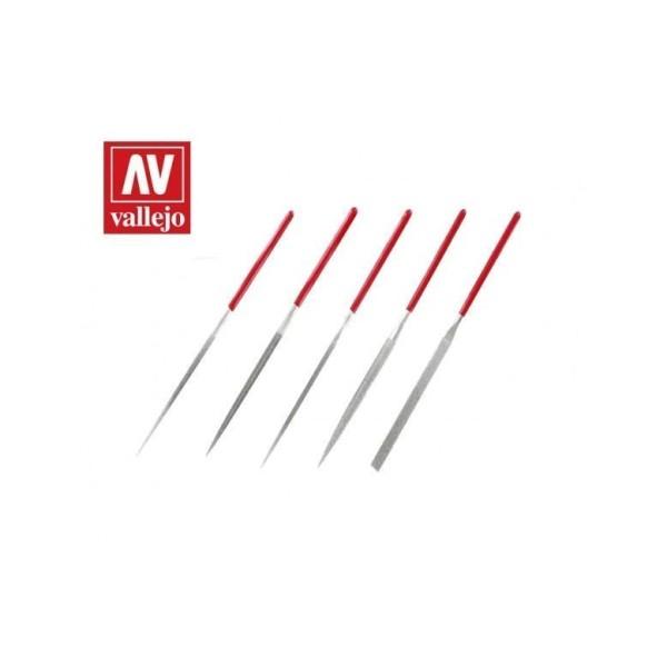 Vallejo - Tools - Set of 5 Diamond Needle Files