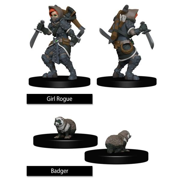 Wizkids - Wardlings - Girl Rogue & Badger